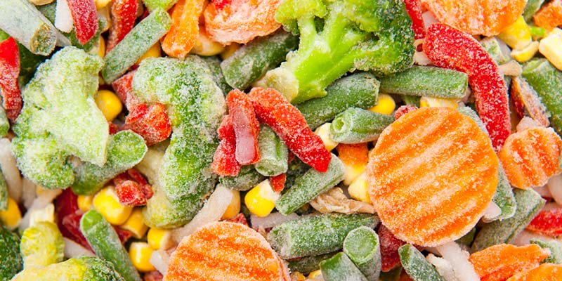 Diversos legumes congelados